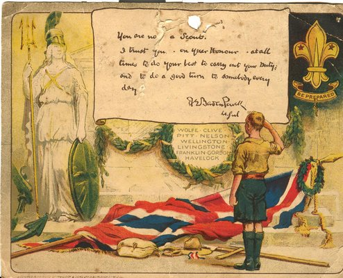 Scouting certificate from Dec 03, 1914, UK