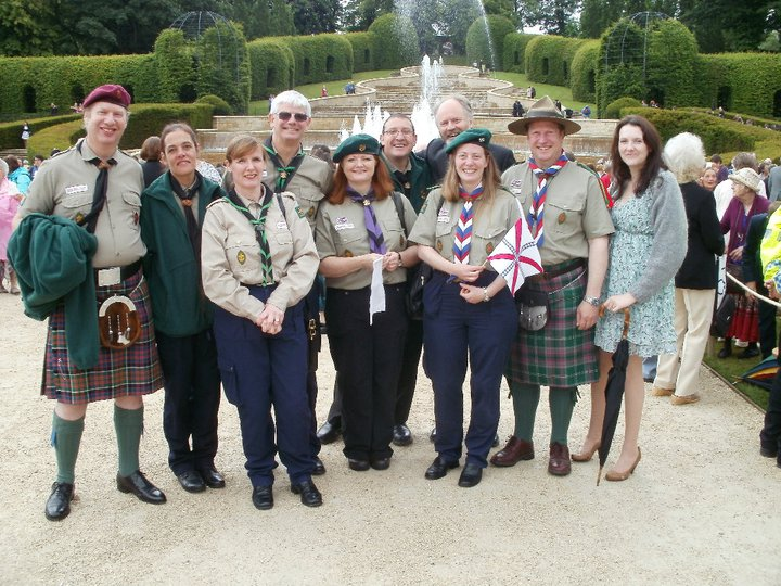 Lord Joicey with Northumbrian Leaders at Alnwick Garden Party