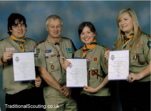 Senior Scouts receiving their Gold Duke of Edinburgh Awards!