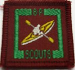 The Senior Scout Master Canoeist Badge
